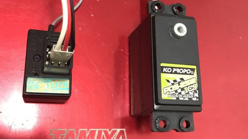 受信機とサーボの接続