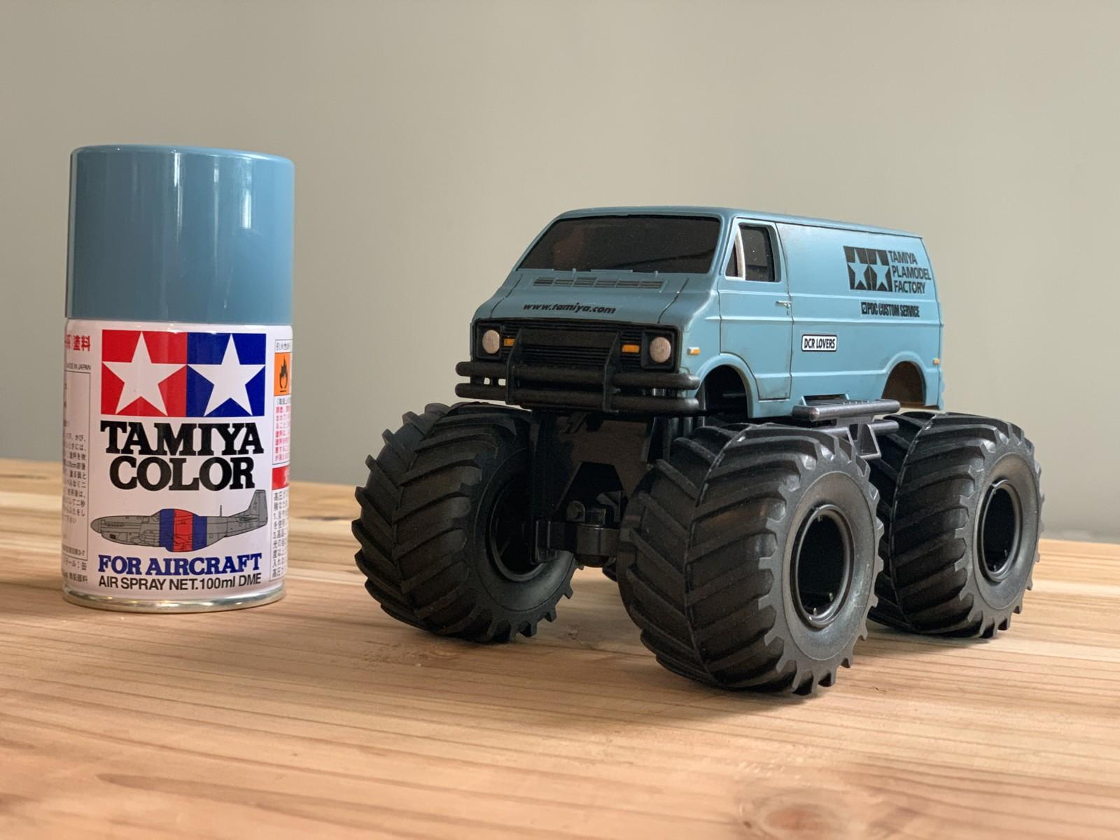 タミヤのワイルドミニ四駆ランチボックスジュニアの塗装