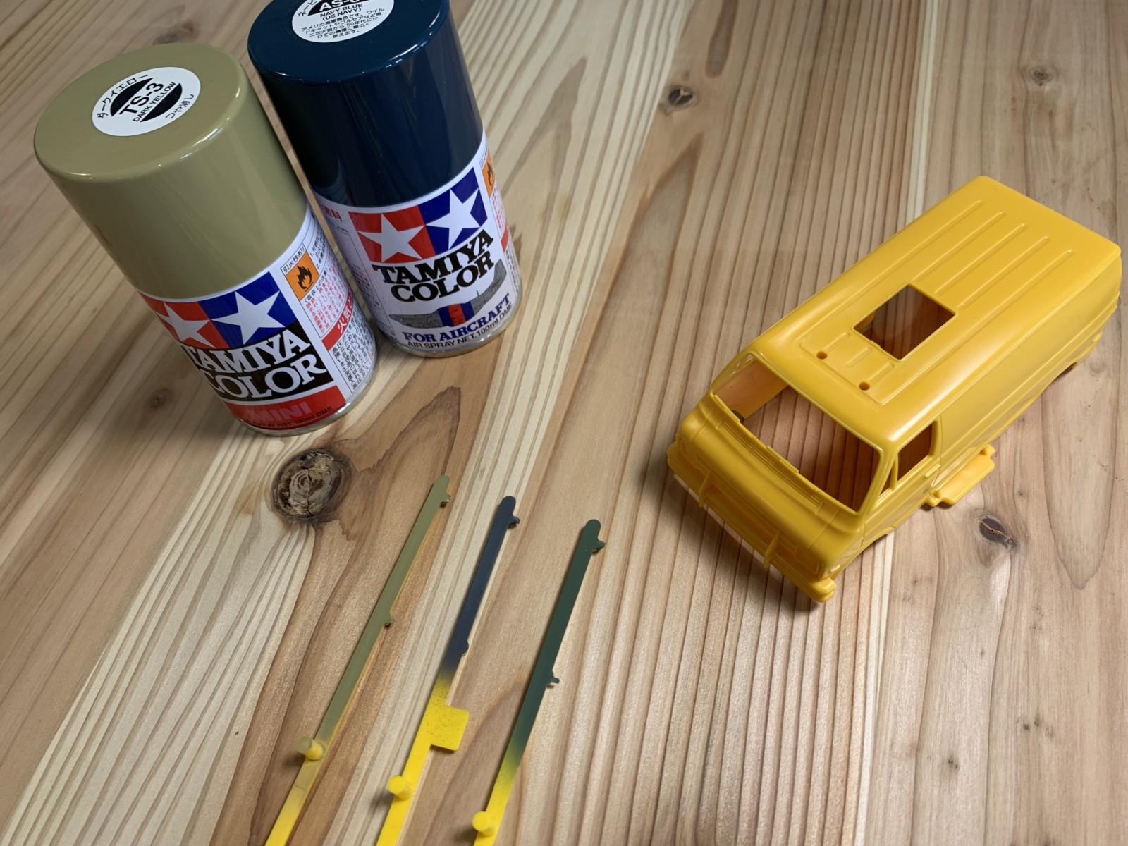タミヤランチボックスジュニアの塗装