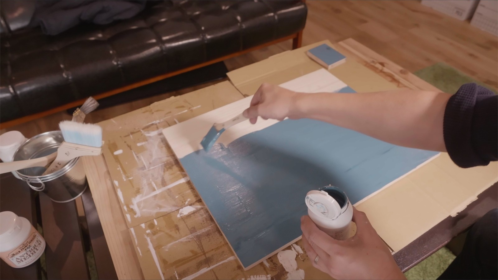DIYラジコンラック天板の塗装