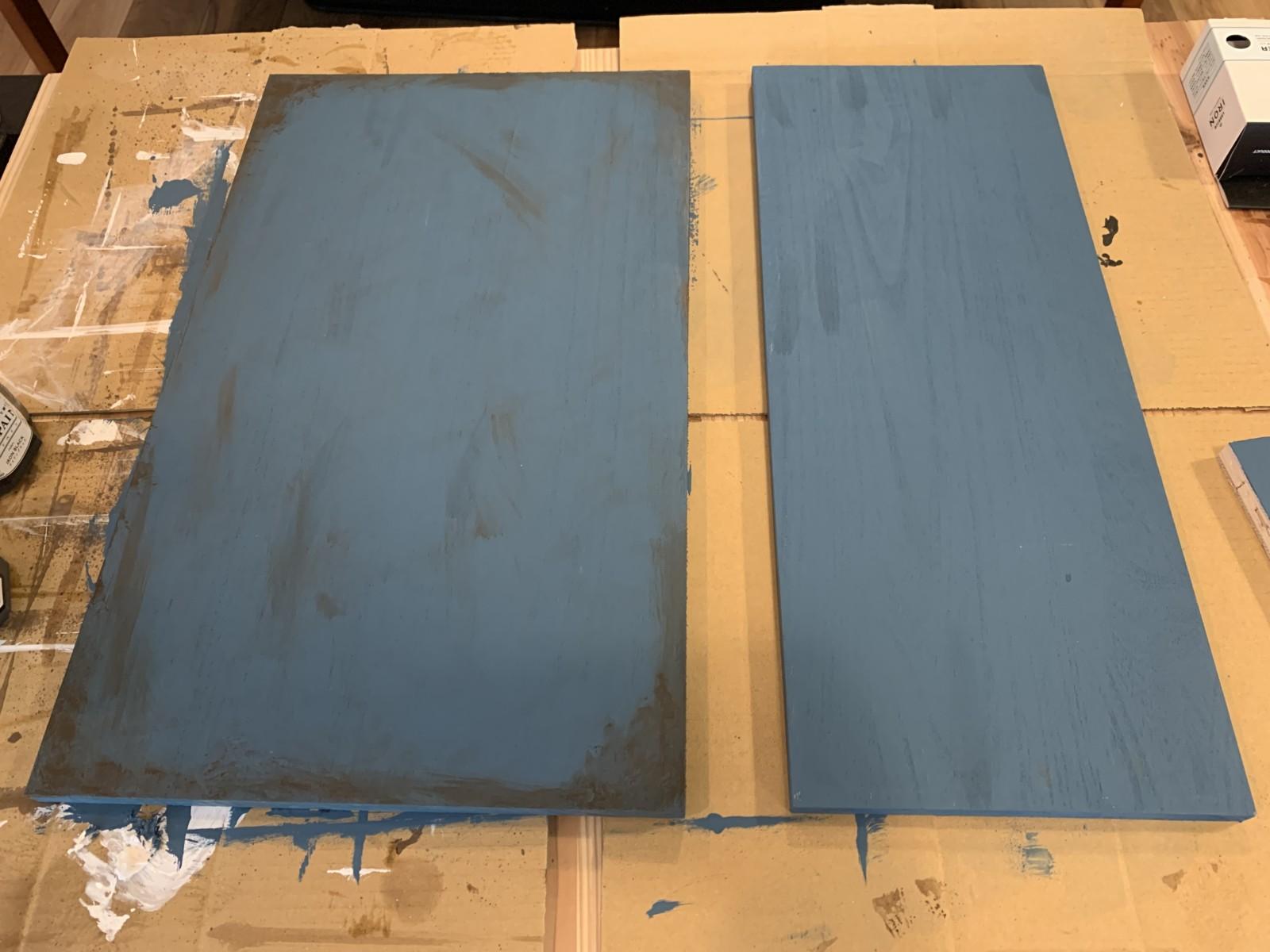 DIYラジコンラック天板の汚し塗装