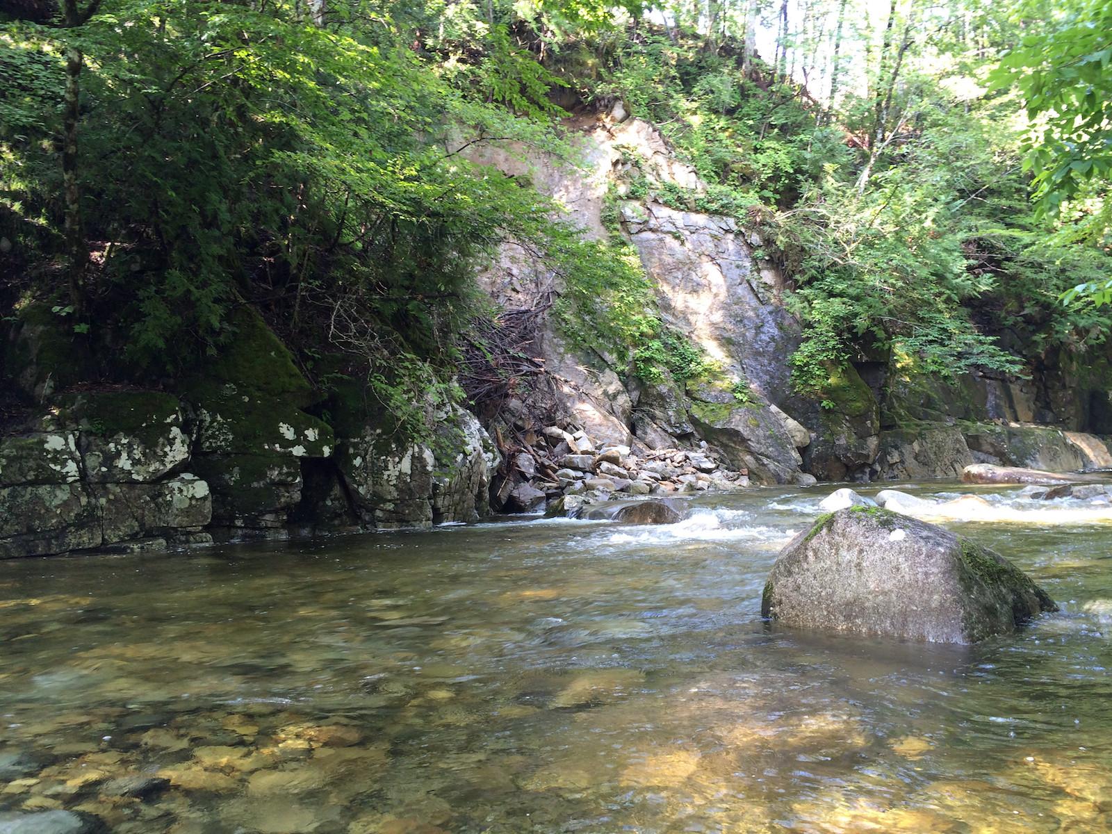 山岳渓流の流心