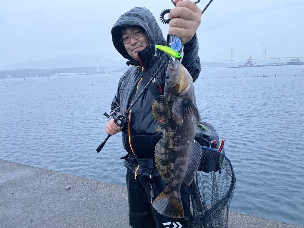 アイナメを釣った玉川さん