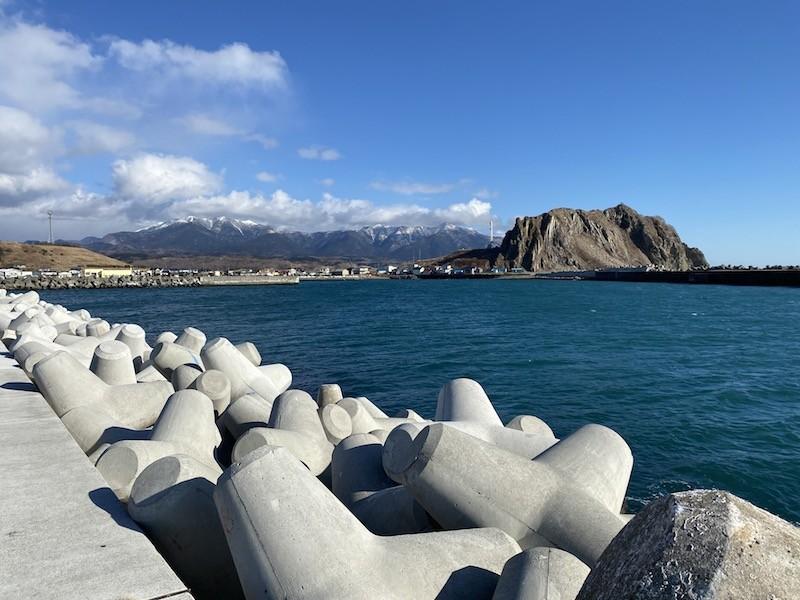 北海道の冬の海
