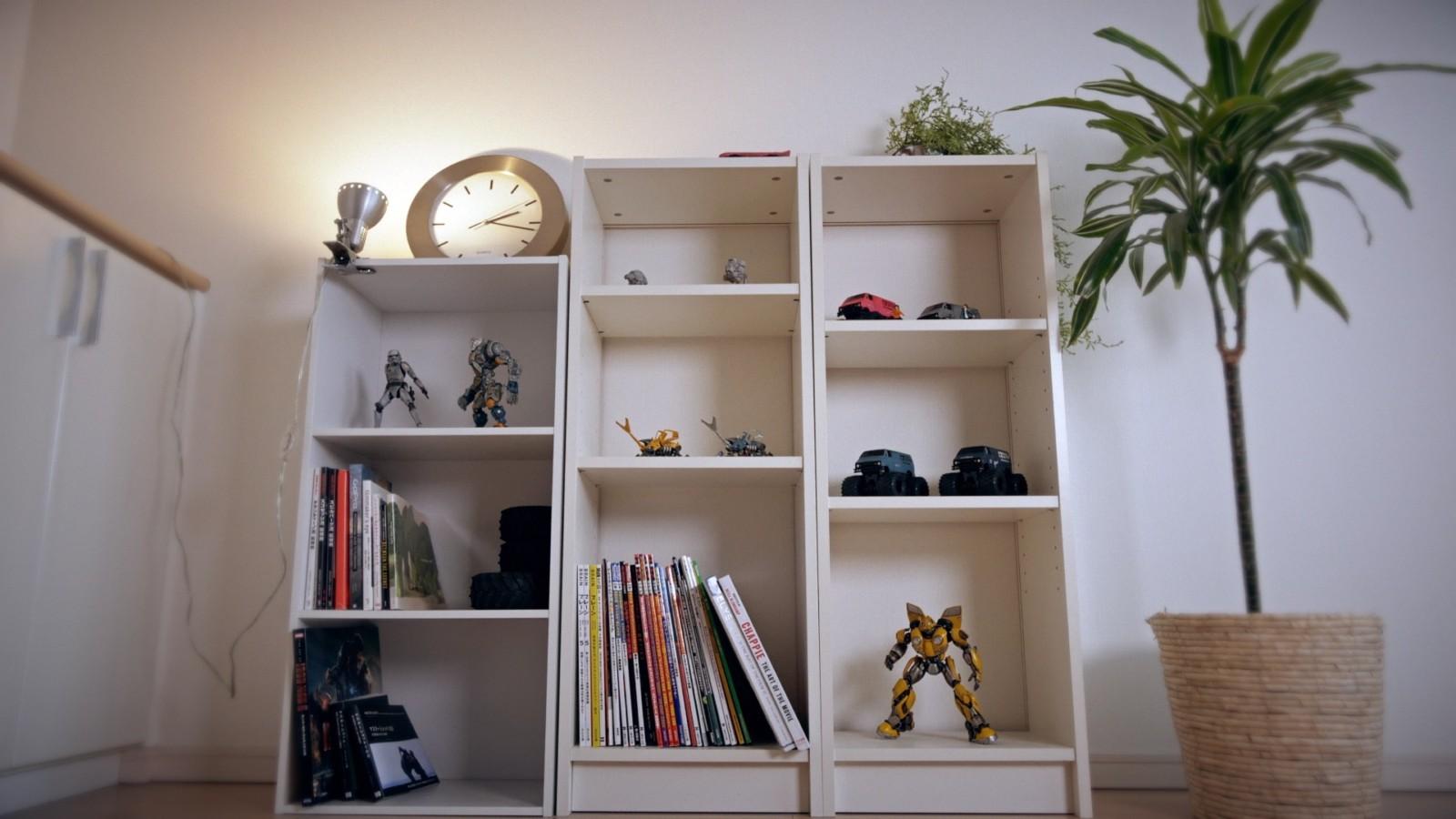 IKEAを購入する前のコレクションラック