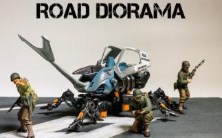 【簡単ジオラマ】スタイロボードで作る「道路のジオラマ」でゾイドやミニ四駆が映える!
