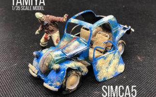 タミヤ1/35MMシリーズ軍用車両「シムカ5」を塗装で遊ぶ(ポップカラーver&ゾンビ襲来ver)