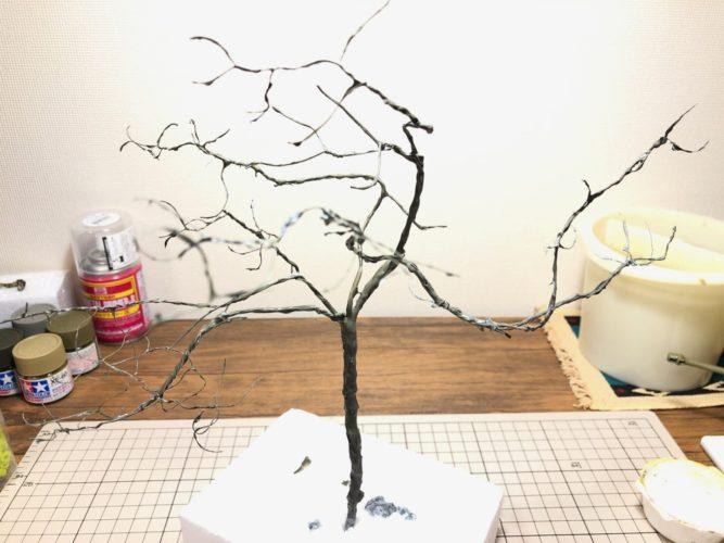 樹木塗装後