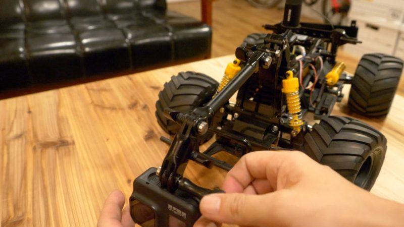 360度カメラをラジコンに搭載