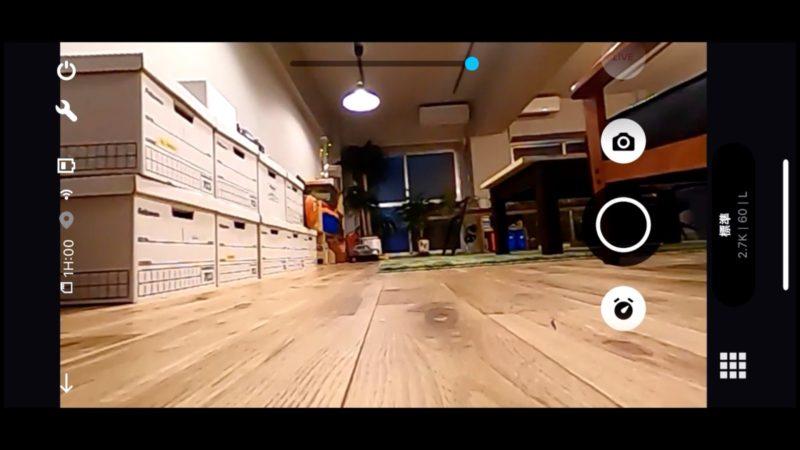 GoProで見ているモニター画面