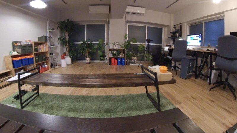 360度カメラで撮影した素材