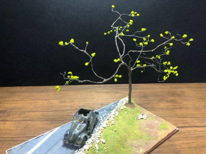 樹木のジオラマ