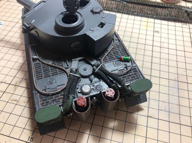 TIGER Ⅰ基本塗装終了(背面)