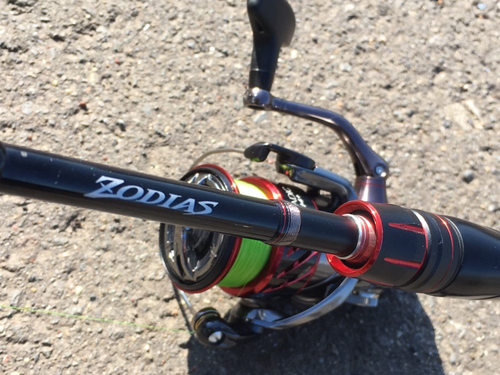 ゾディアス268ML-2とスピニングリール