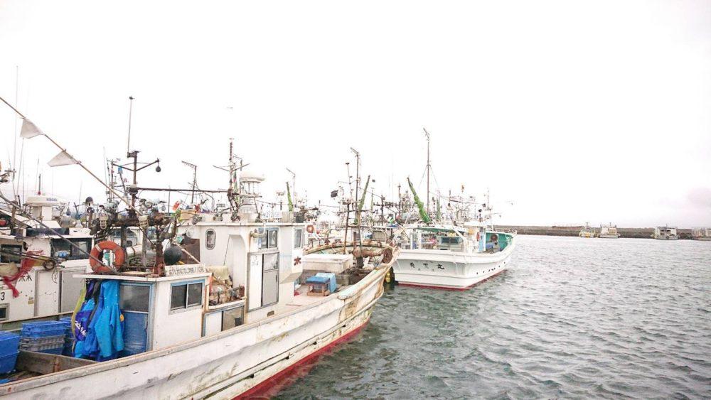 森漁港の漁船