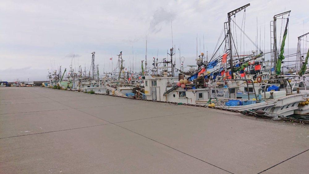 森漁港の船溜まり